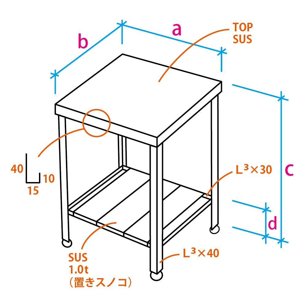 マルゴ特製ステンレス作業台